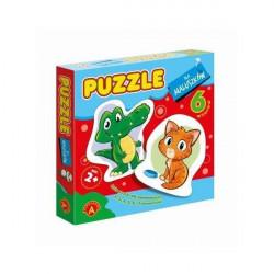 ALEXANDER Puzzle dla Maluszków ZWIERZAKI Krokodyl 7328