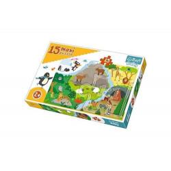 TREFL Puzzle Maxi Układanka 15 el. ZWIERZĄTKA 14280