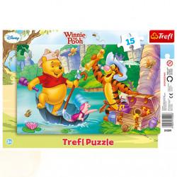 TREFL Puzzle na Podkładce Układanka 15 el. KUBUŚ PUCHATEK Wyprawa Po Skarb 31209