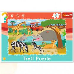 TREFL Puzzle na Podkładce Układanka 15 el. SAFARI 31217