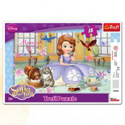 TREFL Puzzle na Podkładce Układanka 15 el. PODWIECZOREK U ZOSI Księżniczka 31204