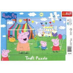 TREFL Puzzle na Podkładce Układanka 15 el. ŚWINKA PEPPA 31276