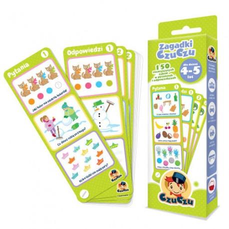 CzuCzu - 4815453 - Zagadki CzuCzu - 150 Rozwijających Zabaw w Pytaniach i Odpowiedziach - 4 - 5 lat