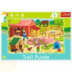 TREFL Puzzle na Podkładce Układanka 15 el. FARMA 31216