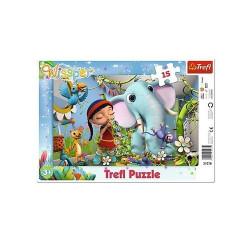 TREFL Puzzle na Podkładce Układanka 15 el. MELODIA PRZYJAŹNI Wissper 31278