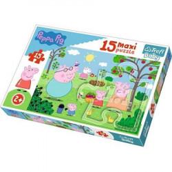 TREFL Puzzle Maxi Układanka 15 el. ŚWINKA PEPPA 14282
