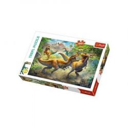 TREFL Puzzle Układanka 160 el. WALCZĄCE TYRANOZAURY Dinozaury 15360
