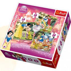 TREFL Puzzle Układanka 3w1 KRÓLEWNA ŚNIEŻKA Disney Princess 106 el. 34038