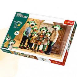 TREFL Puzzle Maxi Układanka 24 el. Rodzina Treflików Portret Rodzinny 14254