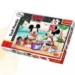 TREFL Puzzle Maxi Układanka 24 el. PIKNIK NA PLAŻY Myszka Miki 14236