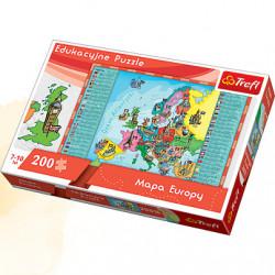 TREFL Puzzle Układanka 200 el. MAPA EUROPY 15503