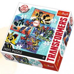 TREFL Puzzle Układanka 4w1 Transformers CZAS NA TRANSFORMACJĘ 34287