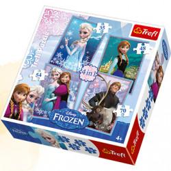 TREFL Puzzle Układanka 4w1 Frozen KRAINA LODU 34210