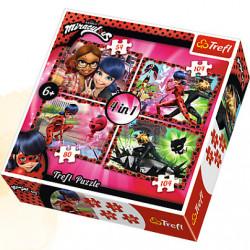 TREFL Puzzle Układanka 4w1 MIRACULOUS 34279