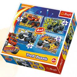 TREFL Puzzle Układanka 4w1 BLAZE 34267