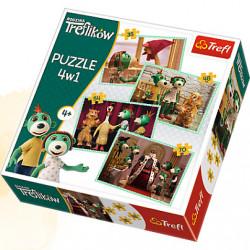 TREFL Puzzle Układanka 4w1 RODZINA TREFLIKÓW 34290