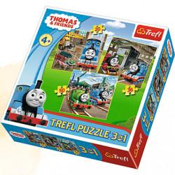 TREFL Puzzle Układanka 3w1 Tomek i Przyjaciele 34821