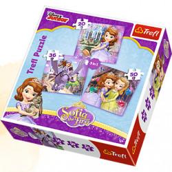 TREFL Puzzle Układanka 3w1 KSIĘŻNICZKA ZOSIA 34814