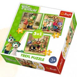 TREFL Puzzle Układanka 3w1 Zabawy TREFLIKÓW 34838