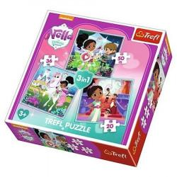 TREFL Puzzle Układanka 3w1 Księżniczka Nella 34835
