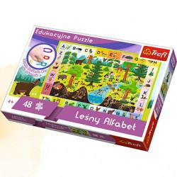 TREFL Puzzle Edukacyjne Układanka 48 el. Alfabet Leśny 15520