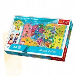 TREFL Puzzle Edukacyjne Układanka 44 el. Mapa Polski 15501
