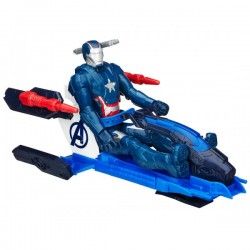 Hasbro - B1491 - Marvel - Avengers Titan - Figurka z Pojazdem - Iron Patriot - 30 cm