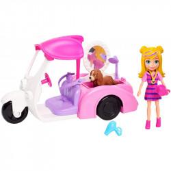 Mattel POLLY POCKET Samochód z Salonem Piękności dla Psów GDM10