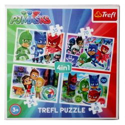 TREFL Puzzle Układanka 4w1 PIDŻAMERSI 34299