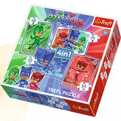 TREFL Puzzle Układanka 4w1 DRUŻYNA PIDŻAMERSÓW 34291
