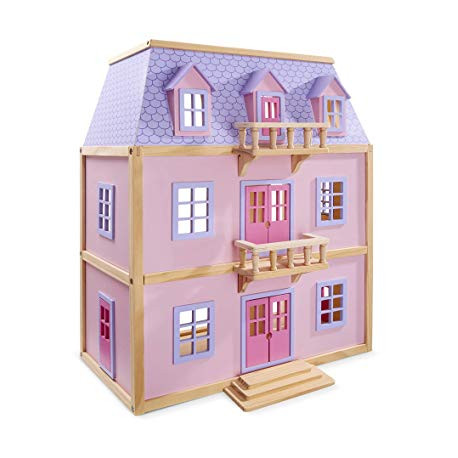 Melissa & Doug Drewniany Domek dla Lalek w Kolorze Różowym 14570