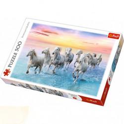 TREFL Puzzle Układanka 500 el. Białe Konie w Galopie 37289
