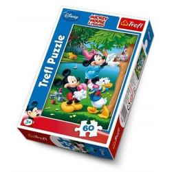 TREFL Puzzle Układanka 60 el. Miki Minnie i Donald na Pikniku 17198