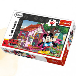 TREFL Puzzle Układanka 60 el. Myszka Miki i Minnie w Ogrodzie 17285