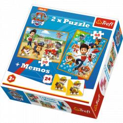 TREFL Puzzle Układanka 2w1 PSI PATROL Memo 90790