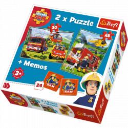 TREFL Puzzle Układanka 2w1 STRAŻAK SAM Memo 90791