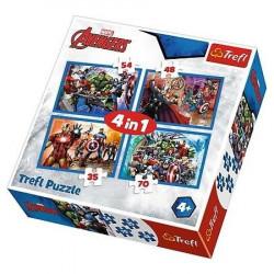 TREFL Puzzle Układanka 4w1 Avengers 34310