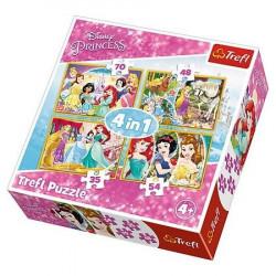 TREFL Puzzle Układanka 4w1 RADOSNY DZIEŃ KSIĘŻNICZEK 34309