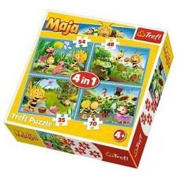 TREFL Puzzle Układanka 4w1 PSZCZÓŁKA MAJA 34320