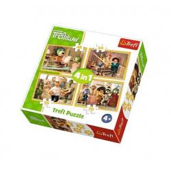 TREFL Puzzle Układanka 4w1 RODZINA TREFLIKÓW 34318
