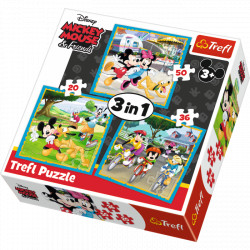 TREFL Puzzle Układanka 3w1 Myszka Miki i Przyjaciele 34846