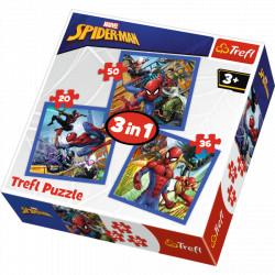 TREFL Puzzle Układanka 3w1 Spiderman 34841