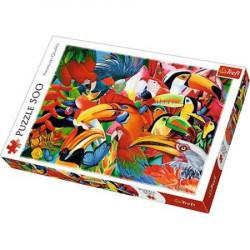 TREFL Puzzle Układanka 500 el. KOLOROWE PTAKI 37328