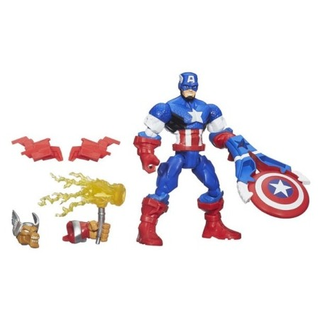 Hasbro - B0694 - A6833 - Marvel - Super Hero - Mashers - Figurka - Kapitan Ameryka - 15 cm