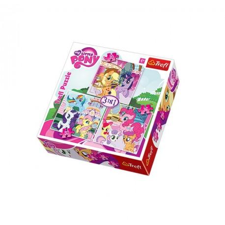 Trefl - 34190 - Puzzle 3 w 1 - My Little Pony