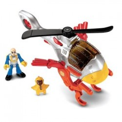 Fisher-Price - X5253 - X5257 - Imaginext - Mały Helikopter - Jastrząb