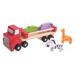 TOOKY TOY Drewniana Ciężarówka ze Zwierzątkami TKC380