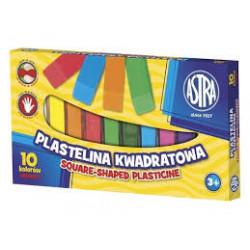 ASTRA Masa Plastyczna Plastelina Kwadratowa 10 Kolorów 7498
