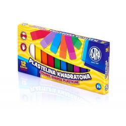 ASTRA Masa Plastyczna Plastelina Kwadratowa 12 Kolorów 0538