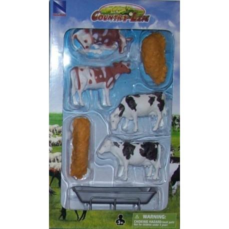 New Ray Toys - 05515 - Country Life - Zestaw ze Zwierzętami - Krowy